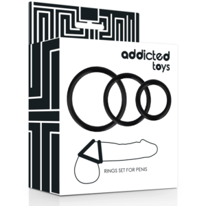 ADDICTED TOYS Penisringe 3 stk. sort